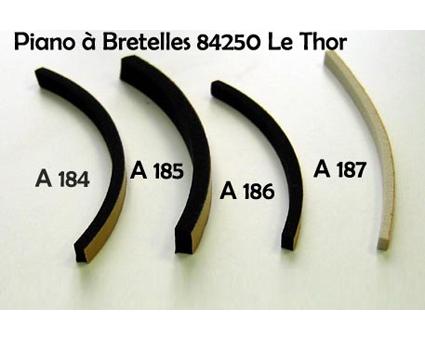 A187 - Joint de soufflet 3x2mm Noir ou Blanc (prix au mètre)