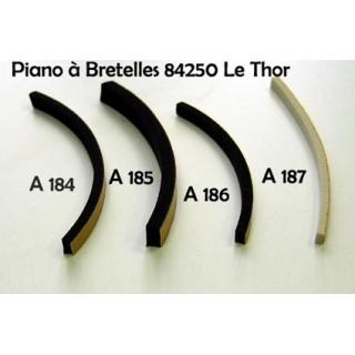 A187 - Joint de soufflet 5x2mm Noir ou Blanc