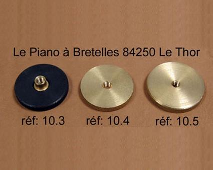 A10.5 - Molette Laiton  Diamètre 35 mm