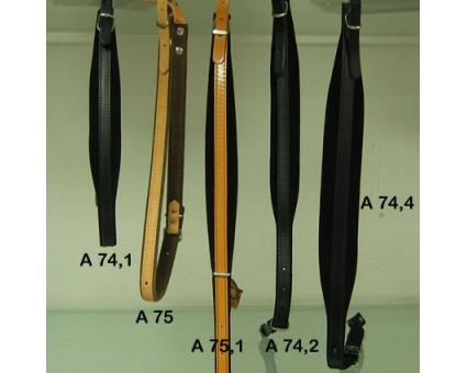 A75 .1 - Paire de bretelles L 4,5 cm  Diatonique cuir Noir