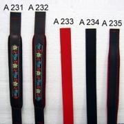 A231 - Courroie  basse diatonique décorée  Noir Velours