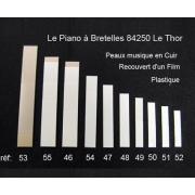 A46 - Peau musique cuir (77 x 12,5 mm)