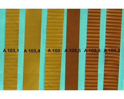 A103.1 - Bandelette de soufflet Or strié 19mm (prix au mètre)