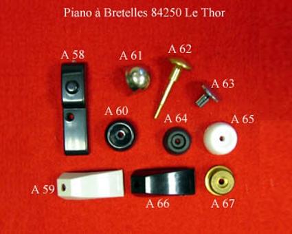 A62 - Tirette de registre chromatique laiton