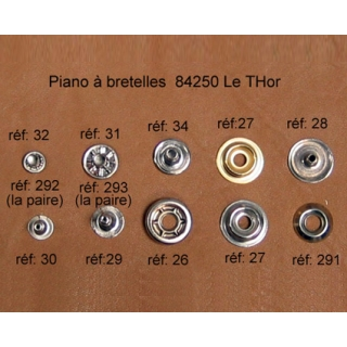 A30 - Rivet à pression Mâle (2,5x11mm)