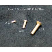 A24 - Rivet aluminium L9,5mm diam.2mm