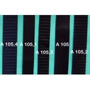 A105.1 - Bandelette de soufflet Noir lisse 19mm