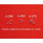 A268 - Ergot aluminium pour touches harmonie laiton