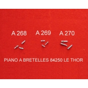A269- Ergot aluminium pour touches harmonie courtes