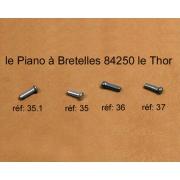 A36 - Rivet musique L8mm diam.2.2mm
