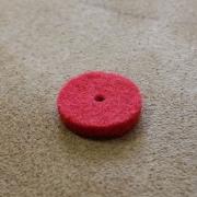 A80 - Feutre de bouton chant Rouge