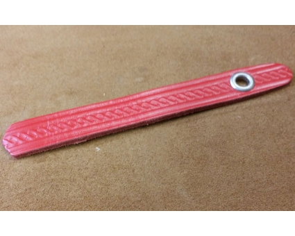 A101.15 - Attache soufflet diatonique Rouge Cuir