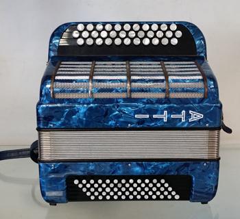 Accordéon d'occasion ATTI Bleu pailleté- Le Piano à Bretelles
