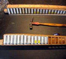 Réparation d'un sommier musique d'accordéon