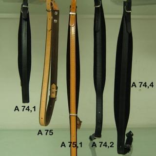 A74.2 - Bretelles L4.5 velours noir