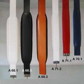 A71.1- Courroie Standard cuir skai Rouge
