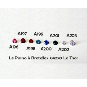 A198 - Faux Brillants (strass)  rouge
