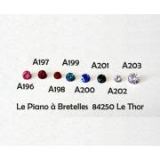 A200 - Faux Brillants (strass)  Bleu