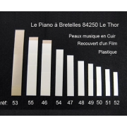 A55 - Peau musique cuir (80 x 12,5 mm)