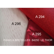 A295 - Tulle en Lamé Rouge satiné