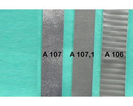 A106 - Bandelette de soufflet Argent strié (prix au mètre)