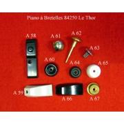 A60 - Pied à agrafe métallique