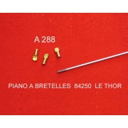 A288 - Embout laitonné pour tige de registre