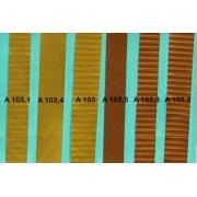 A103 - Bandelette de soufflet Or strié