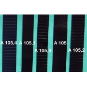 A105 - Bandelette de soufflet Noir lisse 24mm