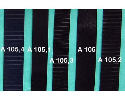 A105 - Bandelette de soufflet Noir lisse 24mm (prix au mètre)